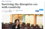 Surviving the disruptive era with creativity