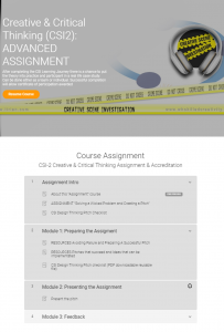 Course Flow Creative Critical Thinking 3